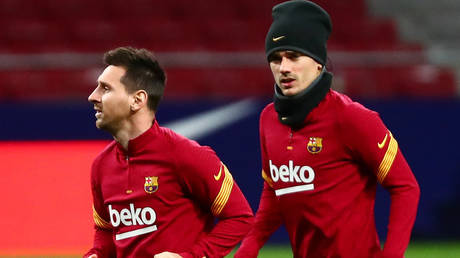 Griezmann spoke about his relationship with teammate Messi. © Reuters