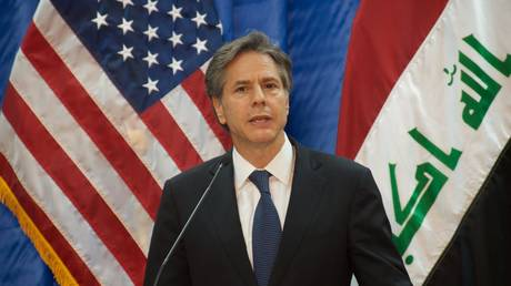 FILE PHOTO US Deputy Secretary of State Tony Blinken at the US Embassy  in Baghdad, Iraq, in 2016