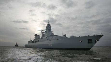 German Navy frigates 'Hamburg' © AP Photo/Focke Strangmann
