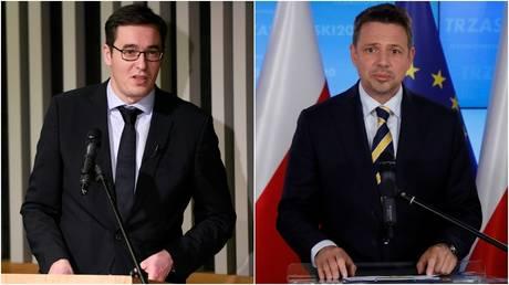 Budapest Mayor Gergely Karacsony (L) © Reuters / Tamas Kaszas; Mayor of Warsaw, Rafal Trzaskowski © Reuters / Maciek Jazwiecki