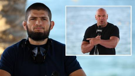 UFC star Khabib Nurmagomedov has confirmed he is meeting Dana White soon. © Zuffa LLC