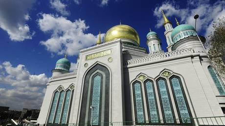 FILE PHOTO: A general view of the Moscow Central Mosque, also known as Moscow Cathedral Mosque and Moscow Jum'ah Mosque, on September 15, 2015 in Moscow, Russia.