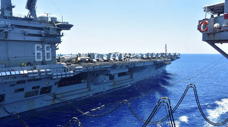 The U.S. Navy aircraft carrier USS Nimitz in South China Sea (FILE PHOTO) © U.S. Navy/Christopher Bosch/Handout via REUTERS.