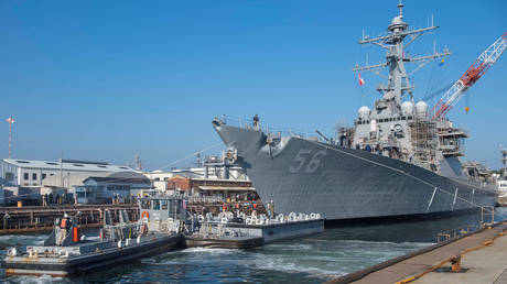 FILE PHOTO: US guided missile destroyer USS John S. McCain
