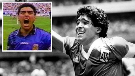 Diego Maradona produced some of the most memorable moments in football history (Reuters/YouTube)
