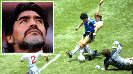 Diego Maradona stunned England with two of the most famous World Cup goals of all time at the 1986 World Cup