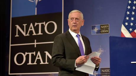 FILE PHOTO: US Secretary of Defence Jim Mattis at NATO headquarters in Brussels, Belgium June 29, 2017