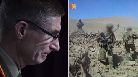 (L) General Angus Campbell © Getty Images / Mick Tsikas - Pool; (R) Screenshot © ABC