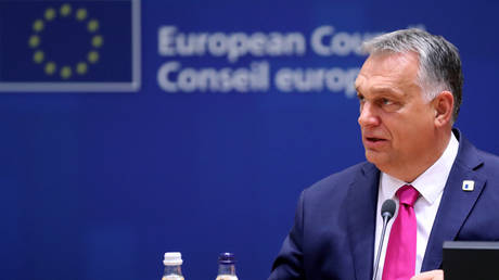 Hungary's Prime Minister Viktor Orban attends the face-to-face EU summit in Brussels, Belgium October 15, 2020.