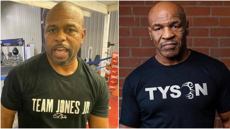 Roy Jones Jr (left) and Mike Tyson (right) are going to go at it in an exhibition match this weekend - Instagram / Roy Jones Jr (left); Mike Tyson (right)