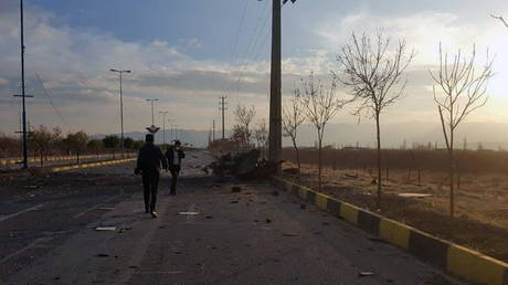 A view shows the site of the attack that killed Prominent Iranian scientist Mohsen Fakhrizadeh, outside Tehran, Iran, on November 27, 2020.