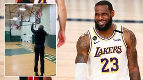 'You just showing out now, my friend!' LeBron James reacts as Barack Obama SINKS three-pointer on Joe Biden campaign trail (VIDEO)