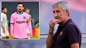 Sacked Barcelona coach Quique Setien says Lionel Messi is 'difficult to manage' as Barca's poor start to the season continues