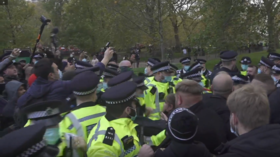 WATCH: Tommy Robinson's supporters clash with London police after his arrest for 'breaking Covid rules'