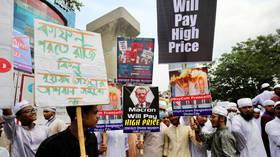 50,000-strong 'anti-Macron' rally in Bangladesh marches towards French embassy, Macron effigy burned