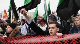 Lusinan orang ditangkap di Moskow pada rapat umum tahunan'March Rusia' sayap kanan, yang sebelumnya diorganisir oleh tokoh oposisi Alexey Navalny