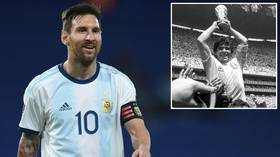 'A hug from the heart!' Lionel Messi sends message of support to Diego Maradona as Argentine legend recovers from BRAIN surgery