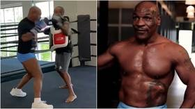 'Don't blink': Tyson showcases terrifying power & speed as 54yo icon steps up training for comeback vs Jones Jr. (VIDEO)