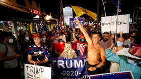 Two people injured after shooter fires pellet gun from car at pro-Trump rally in Florida