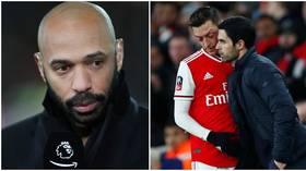 Arsenal legend Henry urges Arteta to act over £350K-a-week outcast Ozil