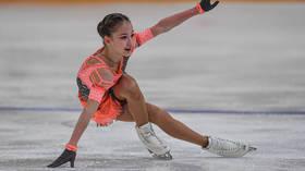 WATCH: Russian skating prodigy Sofya Akatyeva makes history as 13yo starlet lands INCREDIBLE jump combo