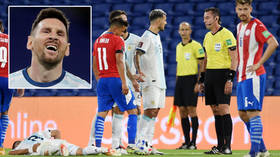 'You screwed us TWICE': Messi rages as referee denies his goal after lenient call on foul that fractured teammate's spine (VIDEO)