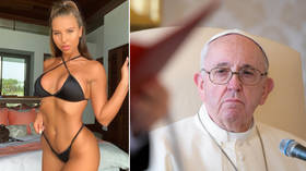 Faith palm: Pope Francis' Instagram account 'caught liking' racy model's sexy schoolgirl photo