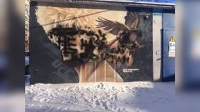 'Not our hero': Vandals deface street mural dedicated to UFC lightweight king Khabib in Russian city