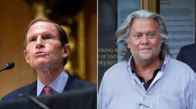 Sen. Blumenthal pressures Zuckerberg to BAN Steve Bannon from Facebook over 'calls for murder,' gets reminded of Vietnam War lies