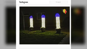 'Most talked about Christmas lights' in Belgium: Town's 'phallic' decorations unintentional, humor welcome, mayor says (PHOTO)