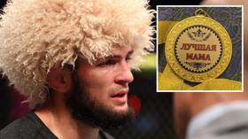 UFC's Khabib bizarrely awarded 'Best Mom' medal in Dagestan after keeping promise to end undefeated career