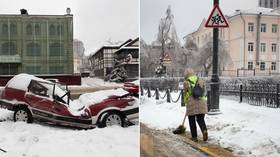 Freak weather triggers state of emergency in Russia's Far East, with freezing ice rain & plummeting temperatures
