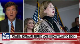 Doubling down: Tucker claims other Trump legal team members yet to see evidence on rigged election software from Sidney Powell