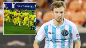 'I don't know what will happen': Russian football ace says US team AXED him after he chose not to take knee for Black Lives Matter