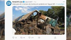 More than 40 killed in head-on collision between truck and bus in Brazil's 'worst highway crash this year'
