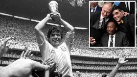'The greatest player I've ever seen, by some way': Football world stunned as global icon Diego Maradona passes away