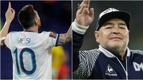Lionel Messi shares tribute to 'eternal' Diego Maradona after death of Argentina icon