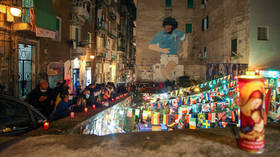 PHOTOS: Napoli fans take to streets to honor late idol Diego Maradona as club to consider renaming stadium