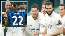 'He's lost his MIND': Vidal is sent off after MASSIVE meltdown with referee as Hazard finally bags in Champions League for Madrid