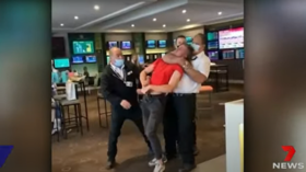 WATCH: Australian teen choked UNCONSCIOUS by pub guard, head hits floor with a THUD, video used as ANTI-MASK political fodder