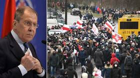 Russian FM Lavrov blasts West for 'attempts to interfere' in Belarus & warns of 'dirty methods' related to 'color revolutions'