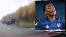 Arsenal's young Gunner Joe Willock 'shaken' but escapes unharmed after terrifying motorway CAR CRASH en route to training (VIDEO)