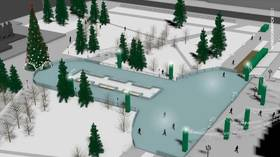 Mayor of Novosibirsk defends decision to shape city's main ice rink like a penis for 2nd consecutive year