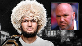 Could Khabib's comeback be on ALREADY? UFC champ teases fans by holding belt as he announces DEC 2 press conference in Moscow