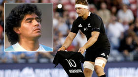 'Lessons for all of us': All Blacks make a mockery of meaningless pre-match gestures with Maradona tribute before the Haka (VIDEO)