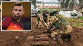 'Well, this doesn't happen every day': AS Roma call in the BOMB SQUAD as unexploded World War II BOMBS found at training ground