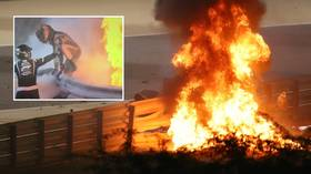 'This man is lucky to be alive': F1 star Grosjean leaps from INFERNO as car explodes after SPLITTING IN HALF at Bahrain GP (VIDEO)