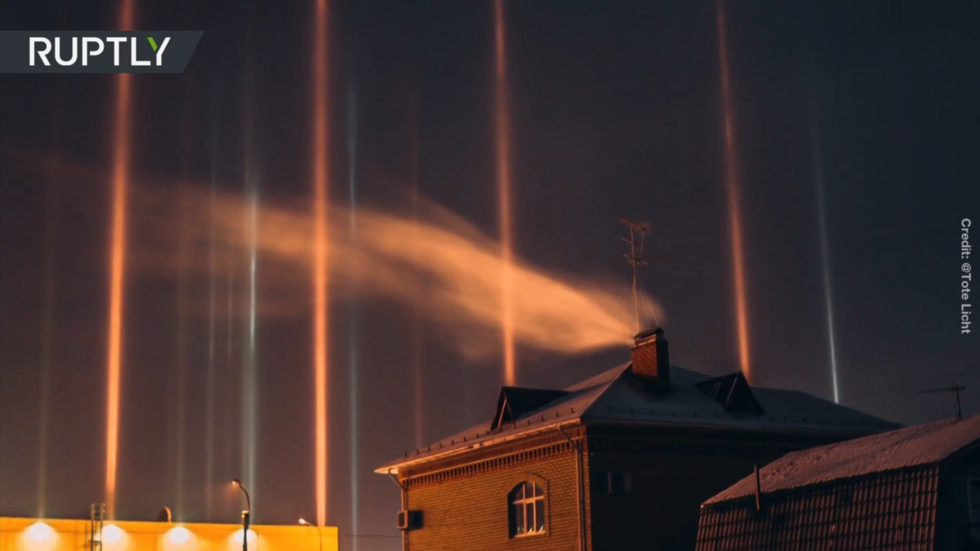 Aliens or simply nature at play? Superb mild pillars give Russian metropolis sci-fi movie-like feast of brightness (PHOTOS)