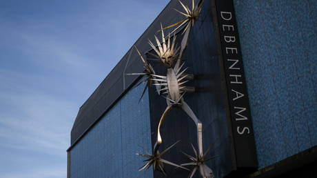 FILE PHOTO: A sculpture on Debenhams' building in Hanley, Stoke-on-Trent, Britain © Reuters / Carl Recine