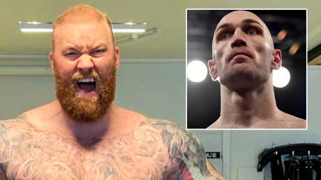 Game of Thrones strongman Hafthor Bjornsson (left) will fight boxing star Steven Ward © Instagram / thorbjornsson | © Action Images / Adam Holt via Reuters
